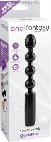vibrador Anal Fantasy Collection Power Beads - Black